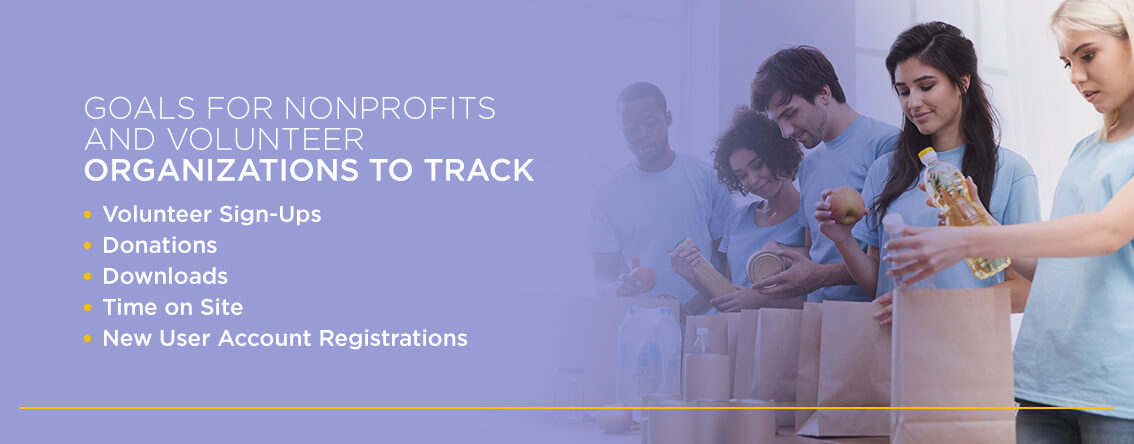 Goals for nonprofits and volunteer organizations to track