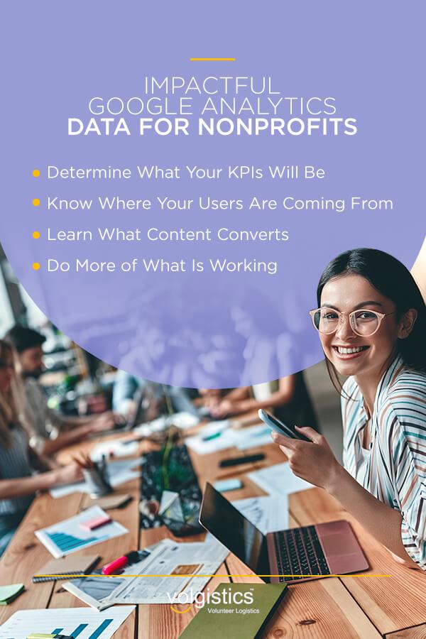 Impactful Google Analytics data for nonprofits