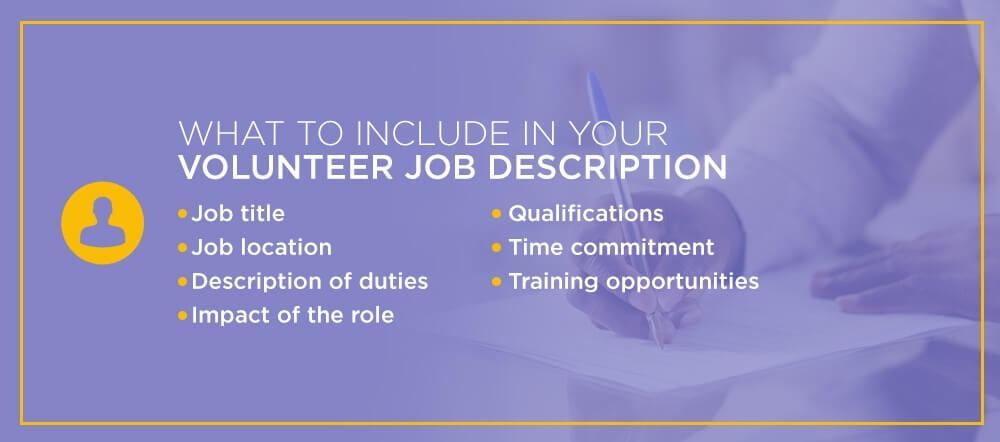 What to Include in Your Volunteer Job Description