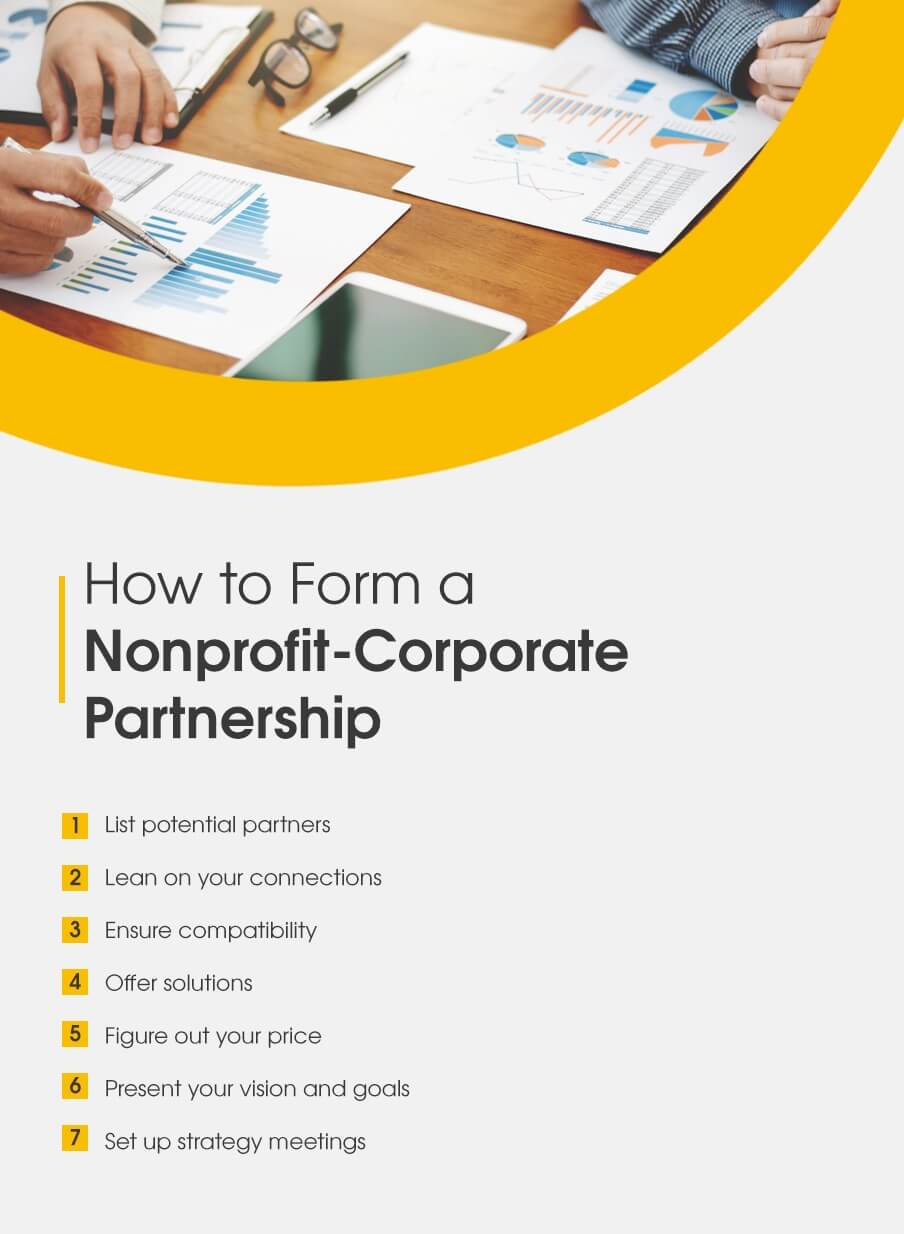 How to form a nonprofit-corporate partnership
