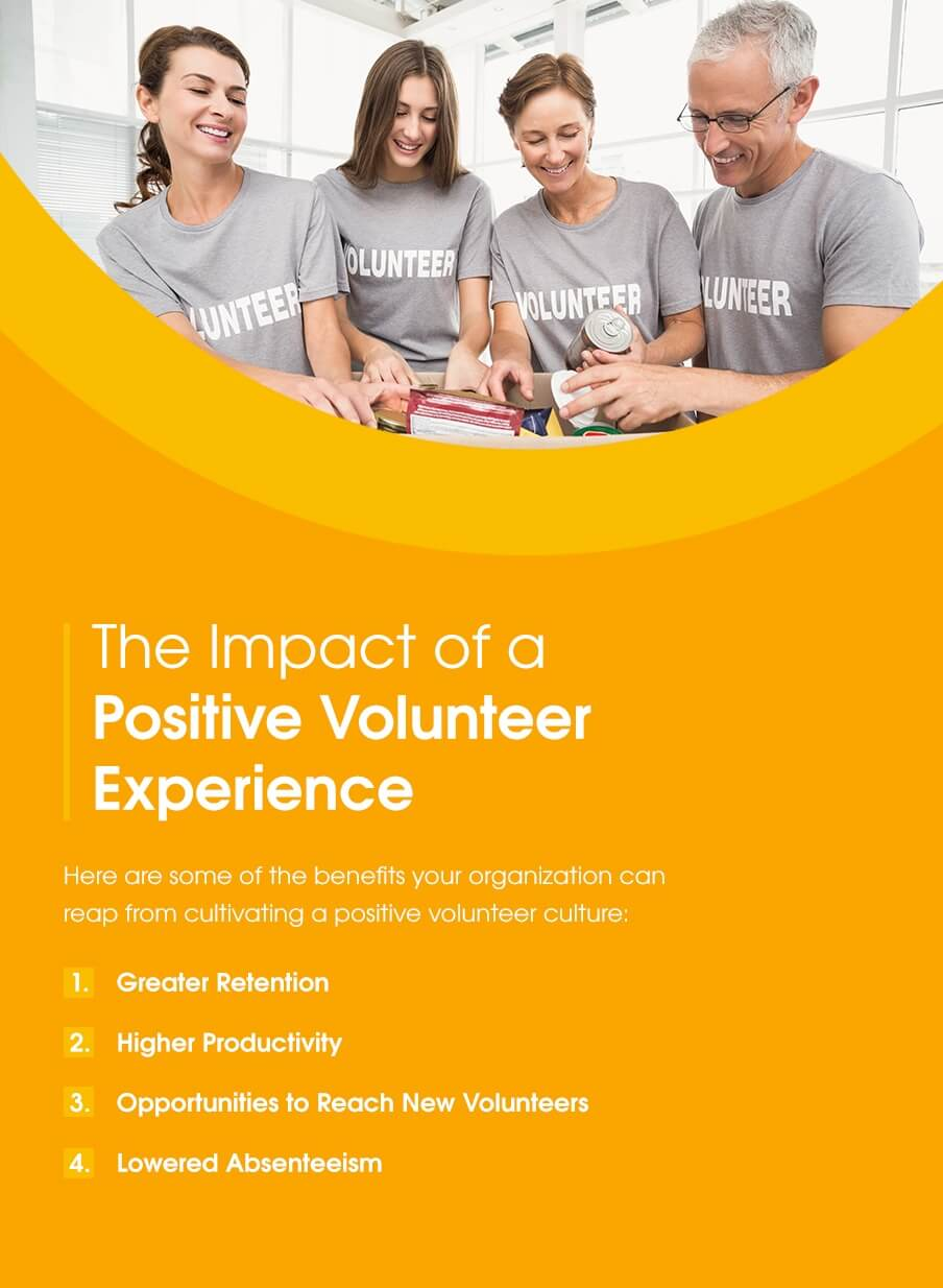The impact of a positive volunteer experience