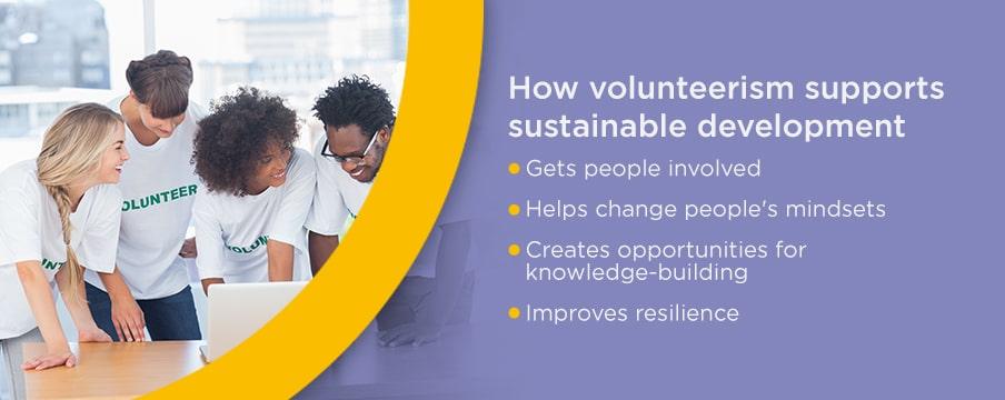 How volunteerism supports sustainable development