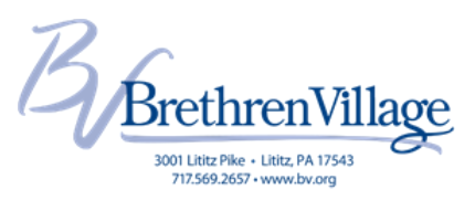 Brethren Village BRETHREN VILLAGE VOLUNTEER APPLICATION FORM