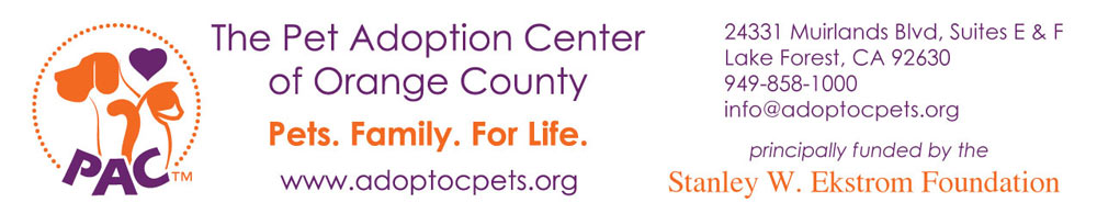 The Pet Adoption Center of Orange County Login