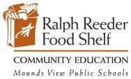 Ralph Reeder Food Shelf Individual Volunteer Interest Form